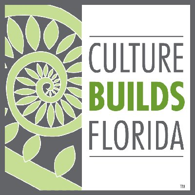 "fiddlehead fern with words ""Culture Builds Florida"""