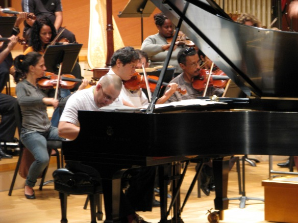 "Ignacio ""Nachito"" Herrera rehearsing with the National Symphony Orchestra of Cuba. Photo provided by Tim Storhoff."