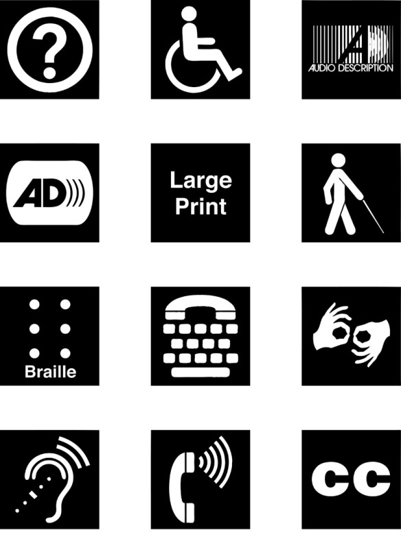 Do you know what all of the Disability Access Symbols mean? Learn about them and download them for your own use at https://www.graphicartistsguild.org/resources/disability-access-symbols/
