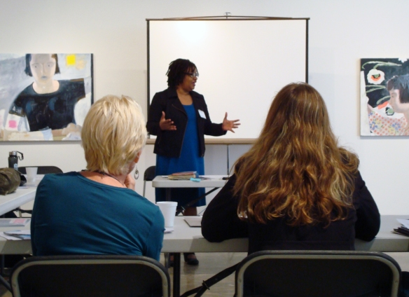 Beverly McIver explains how she worked towards achieving her own goals during the Strategic Planning session.