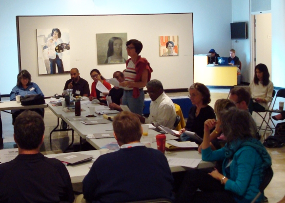Participating artist Julia Morrisroe describes an upcoming exhibition during Targeted Marketing.