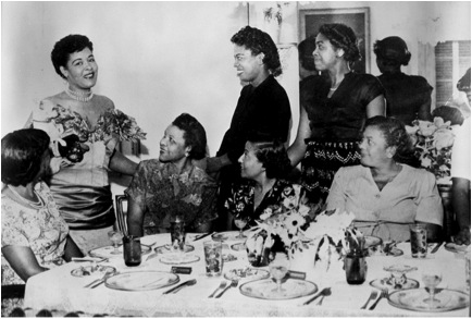 Billie Holiday at Georgette's Tea Room circa 1950, courtesy of HistoryMiami.