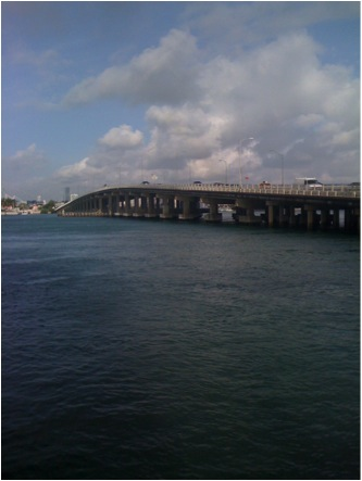 Photograph near the MacArthur Causeway, where Zora Neale Hurston lived on a boat named The Challenger in 1950. Photo circa 2010 by Lara Stein Pardo.