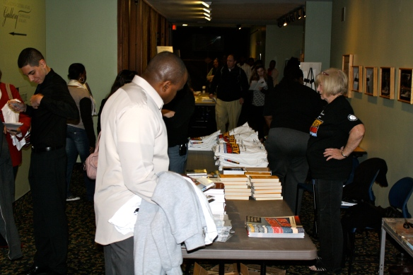 Competing students were given shirts, poetry books, CDs, and other giveaways provided by our gracious sponsors.