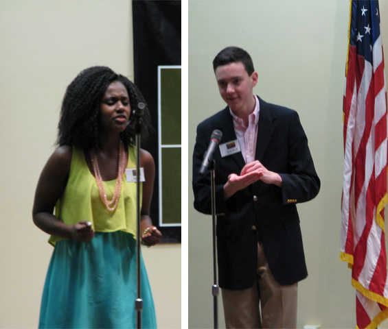Honorable mentions were awarded to Desirae Lee (left), a senior at Stanton Prepatory School in Duval County and Baxter Murrell (right), a sophomore at Winter Park High School in Orange County.