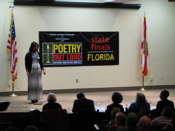 Second place was awarded to Christell Roach, a senior at Miami Arts Charter School in Miami-Dade County. Roach will receive a $100 cash prize and Miami Arts Charter School receives $200 for their poetry collection.