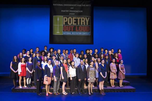 This year's 53 Poetry Out Loud State Champions in Washington, DC. Photo by James Kegley, used with permission of the National Endowment for the Arts.