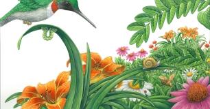 3) Carol Schwartz -  My Busy Green Garden p 14-15 NFS 24 x 16.jpg